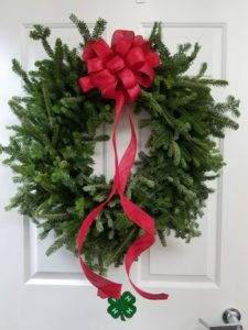 Fresh Greenery Holiday Wreath with a Red Bow