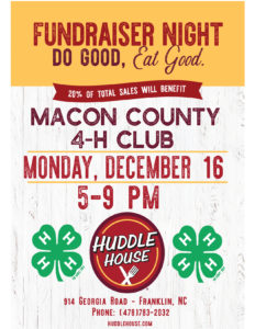 Cover photo for Macon County 4-H Huddle House Fundraiser